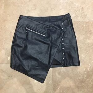 Nasty Gal Asymmetrical Faux Leather Skirt